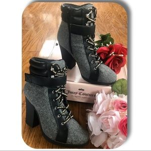 Juicy Couture Utility Style Lace Up Ankle Boot